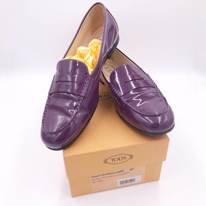 Tod's City Gommino Loafers in Patent Leather